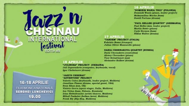 EVENIMENT /// Jazz'n Chișinău International Festival (16-19 aprilie)